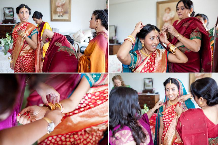 Hindu bride preparations at Poundon House
