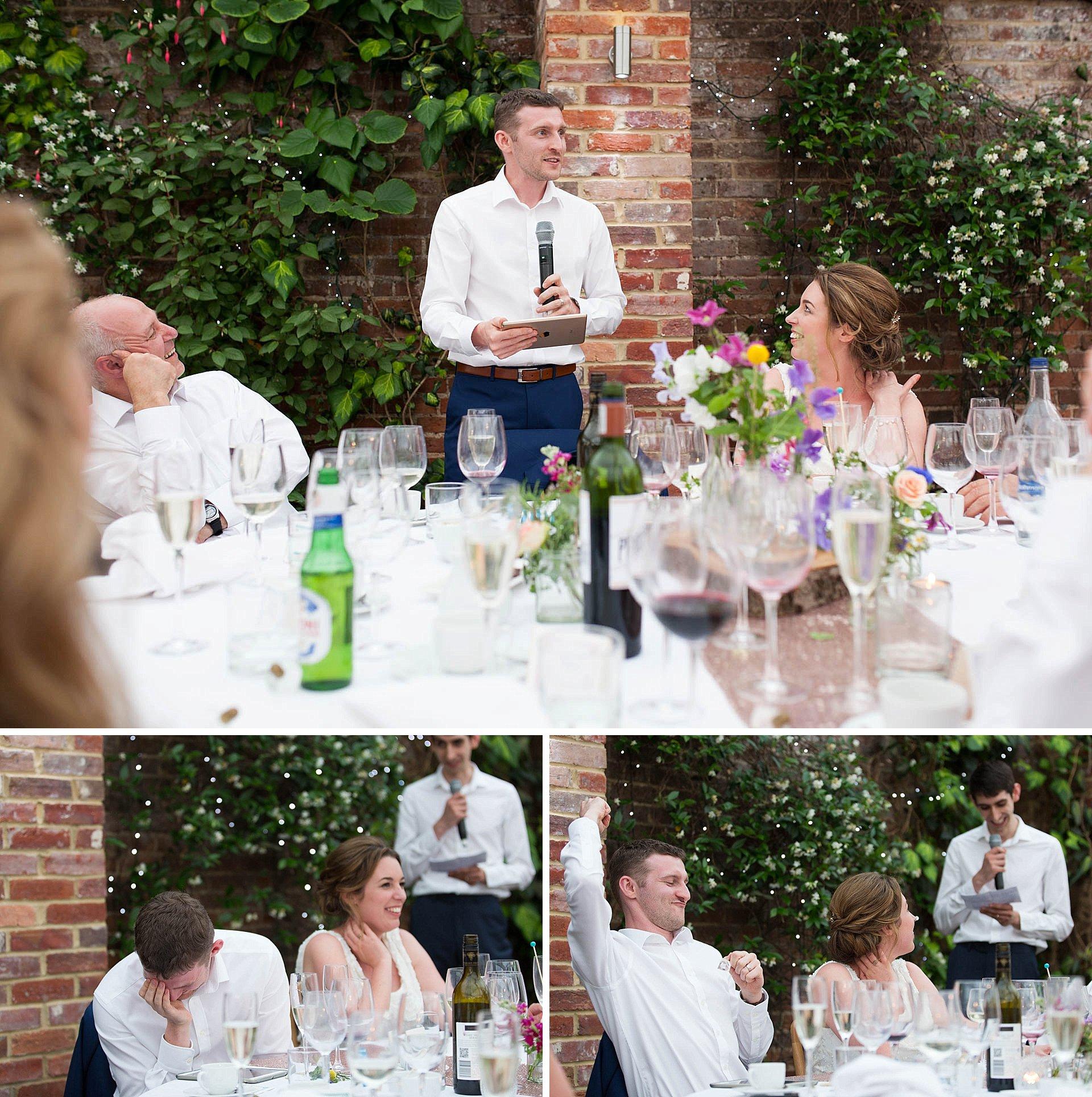Surrey wedding - the speeches
