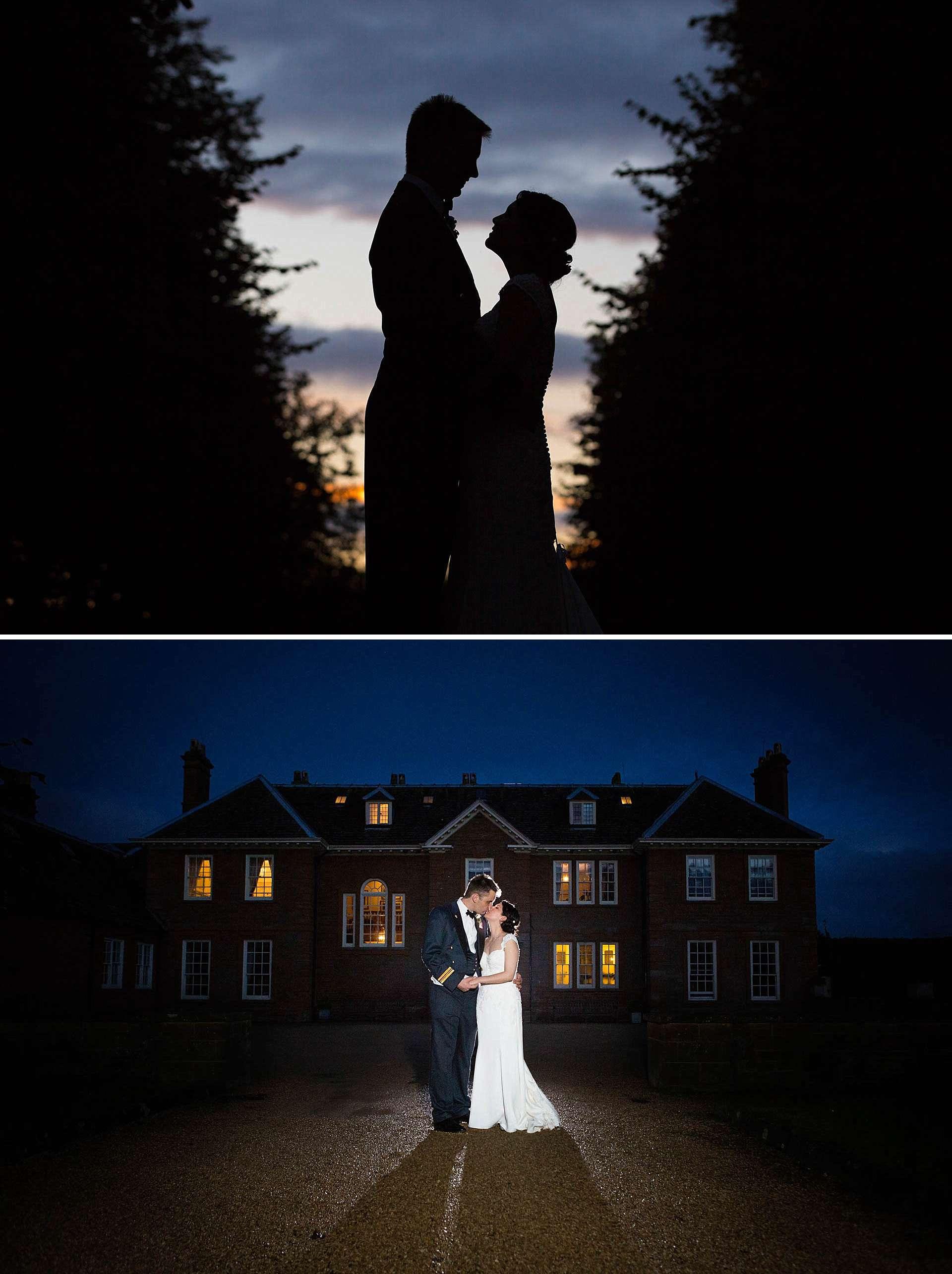 Poundon House wedding - evening wedding portraits