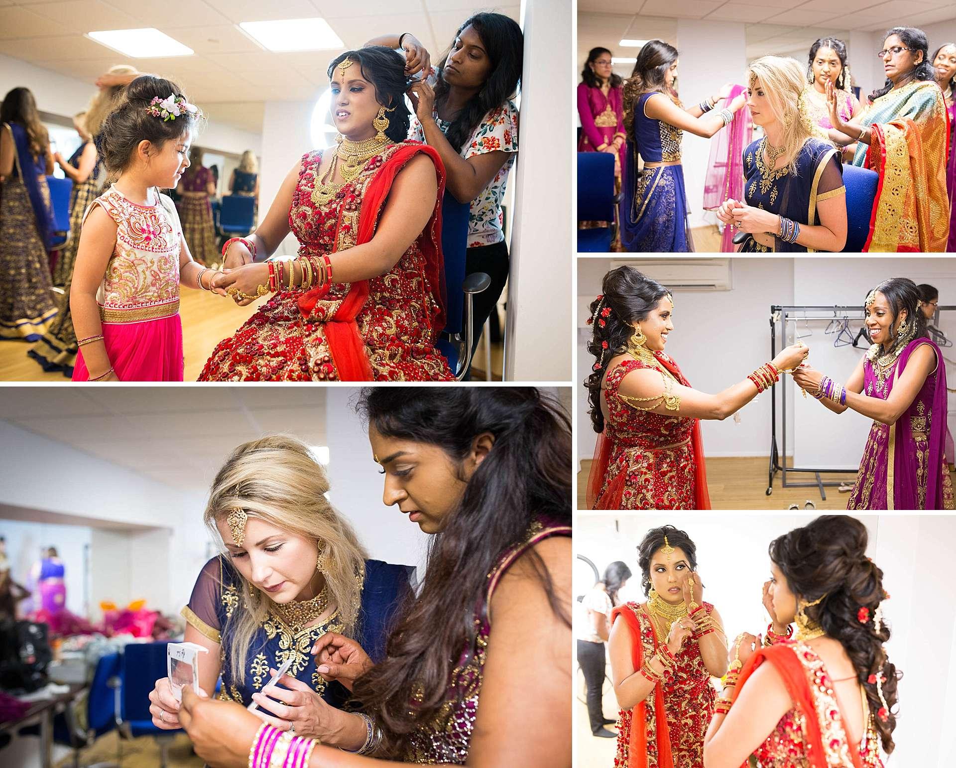 Hindu wedding bridal preparations