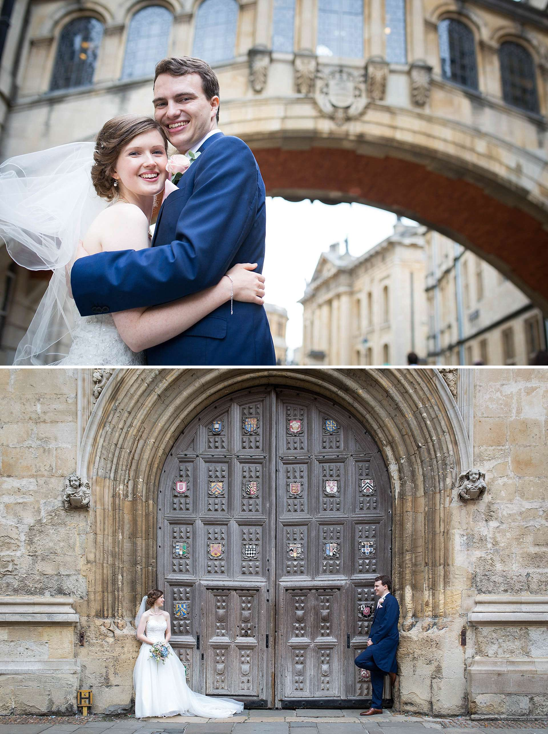 Bridge of Sighs wedding portrait