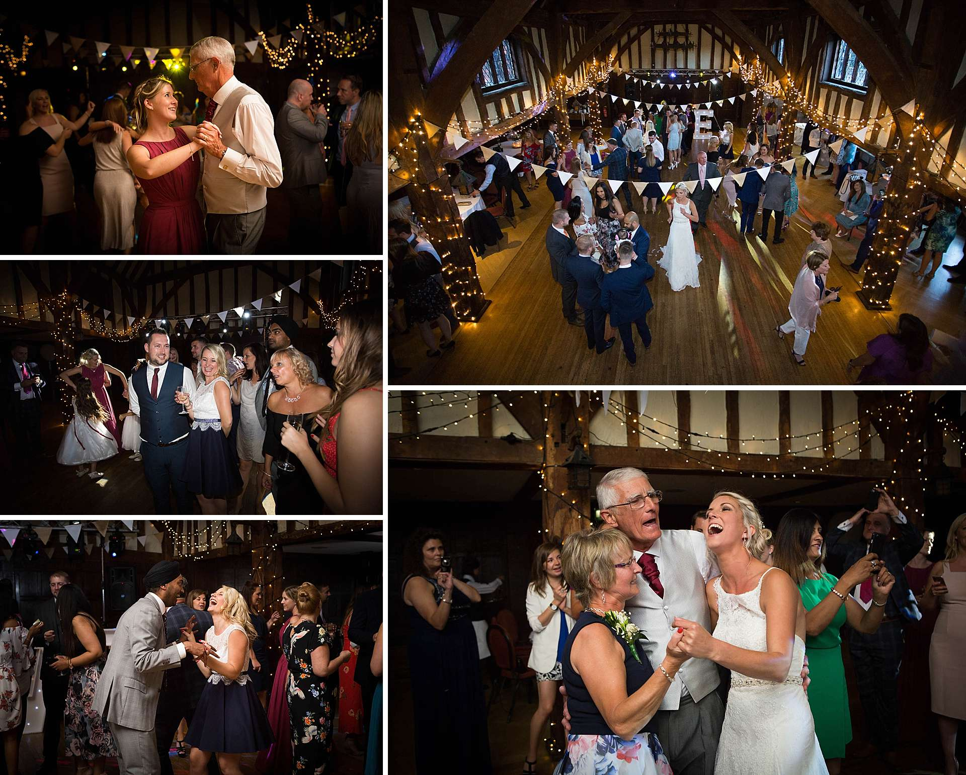 Wedding reception in The Tithe Barn
