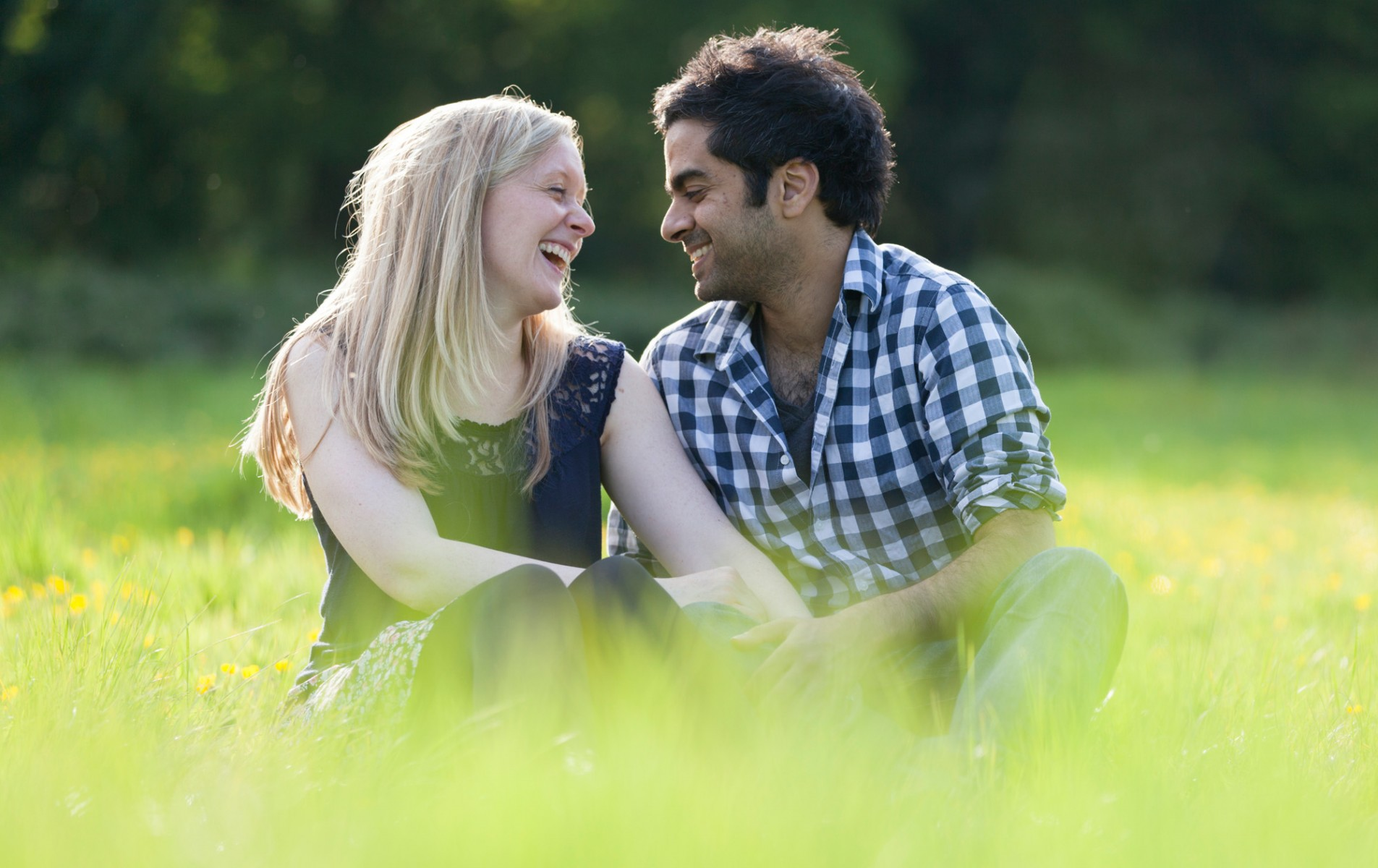 Hampstead Heath Engagement Shoot - Sarah and Dipesh