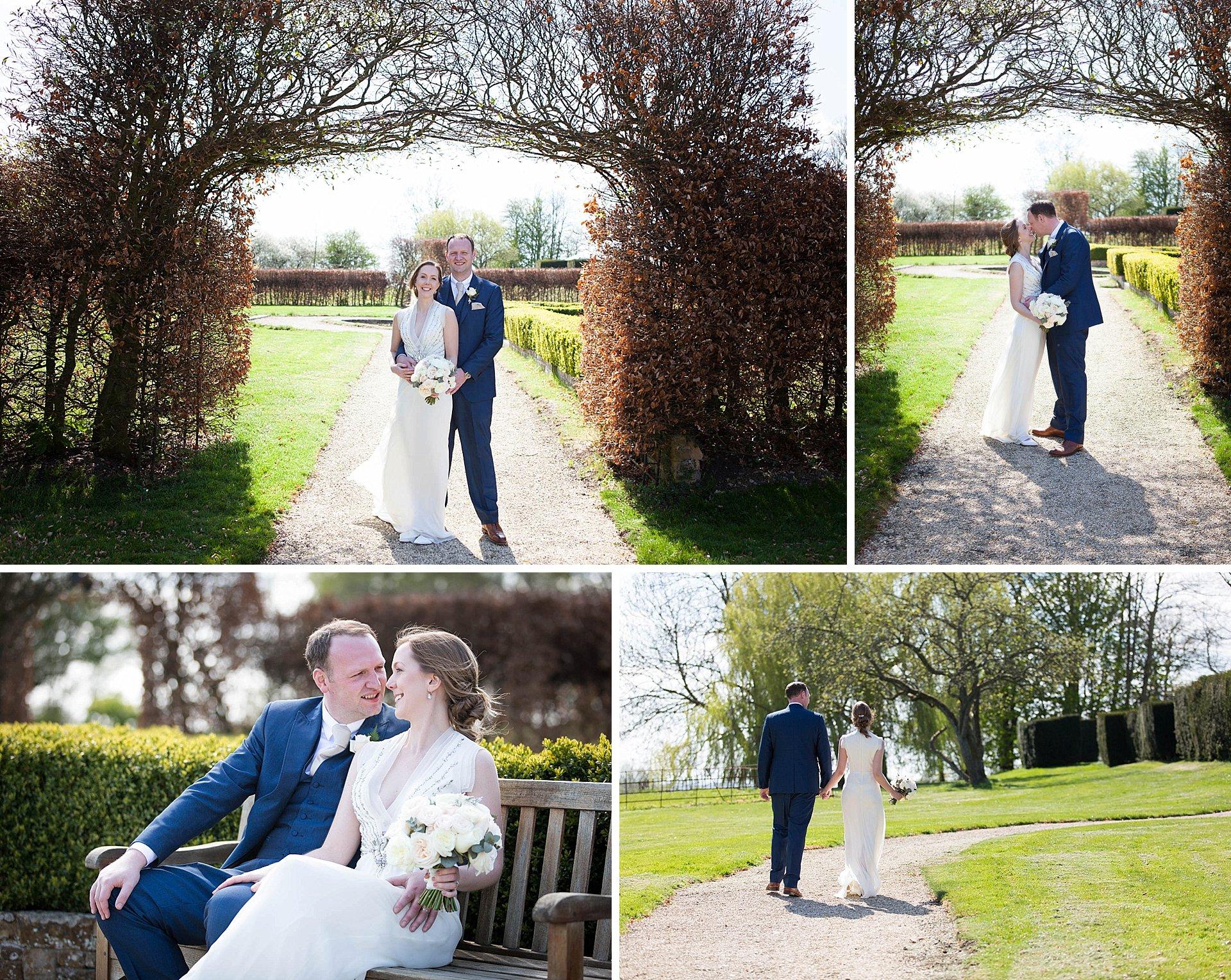 Wedding portraits at Poundon House