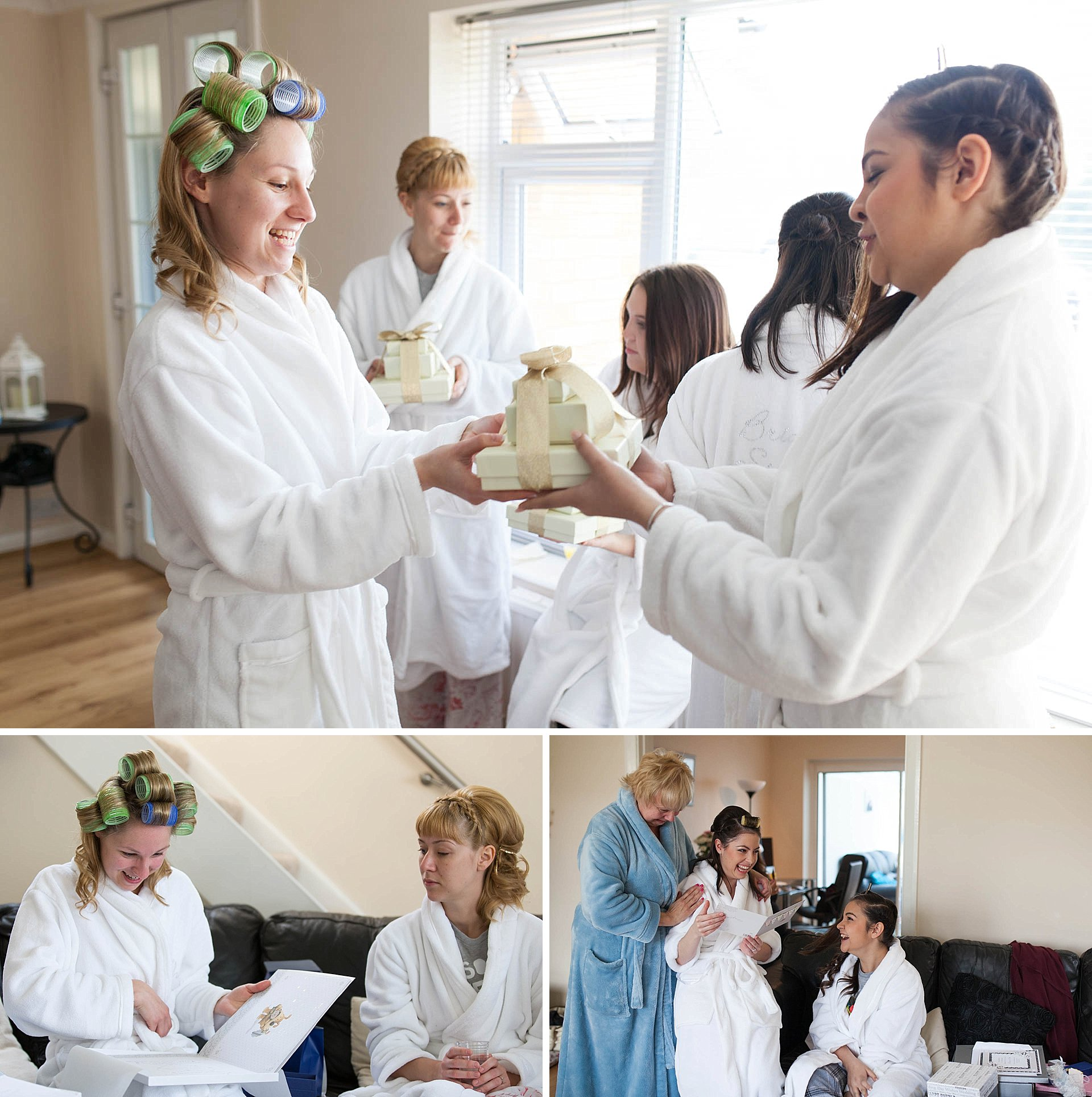 Bridal preparations for Great Fosters Wedding