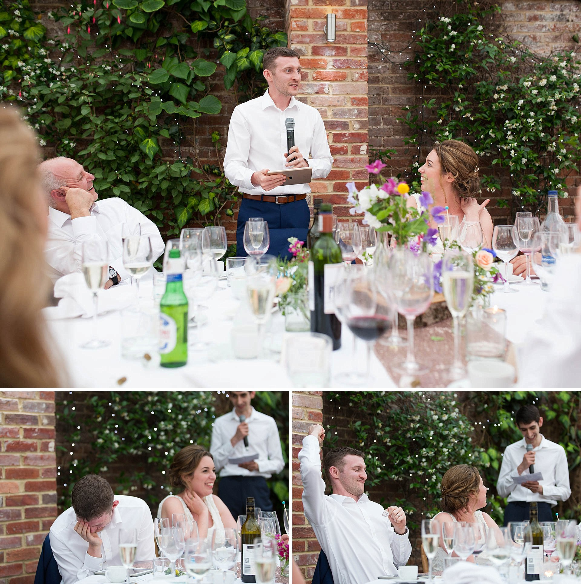 Surrey wedding - the speeches