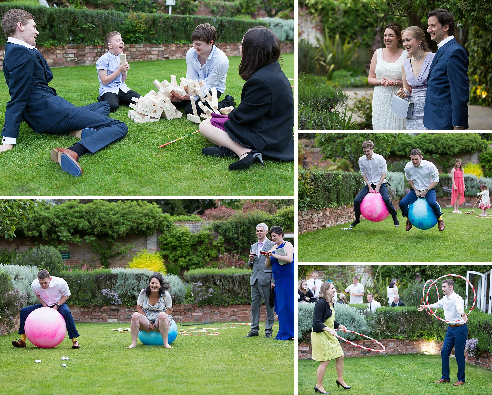 Wedding day fun and games