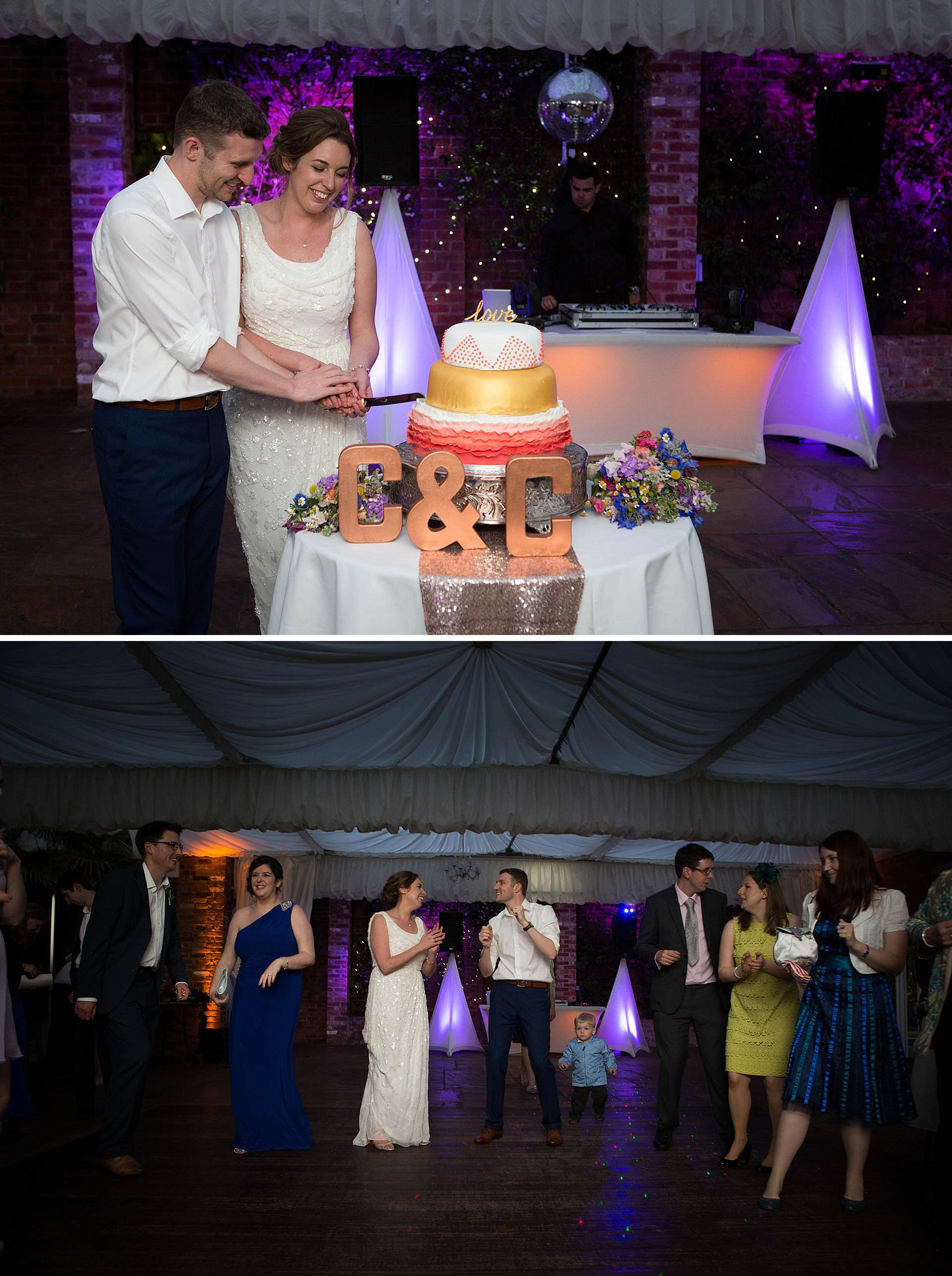 Cake cutting and dancing at Northbrook Park