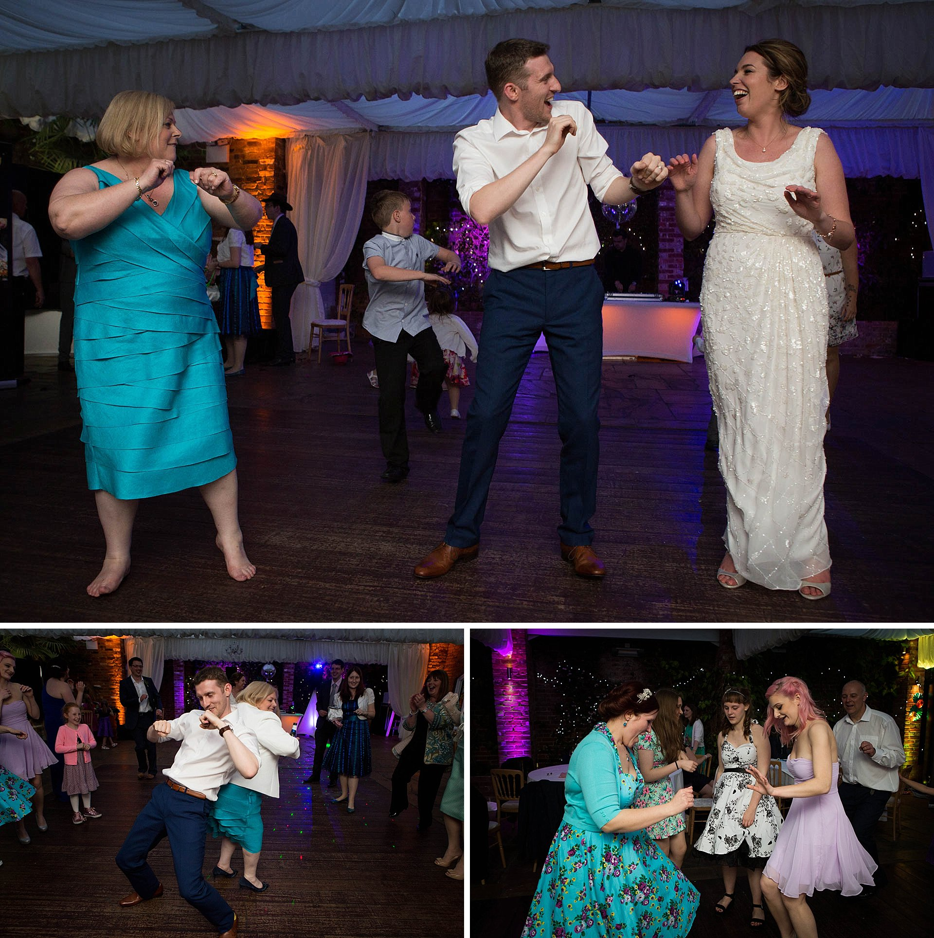 Surrey wedding photography - dancing