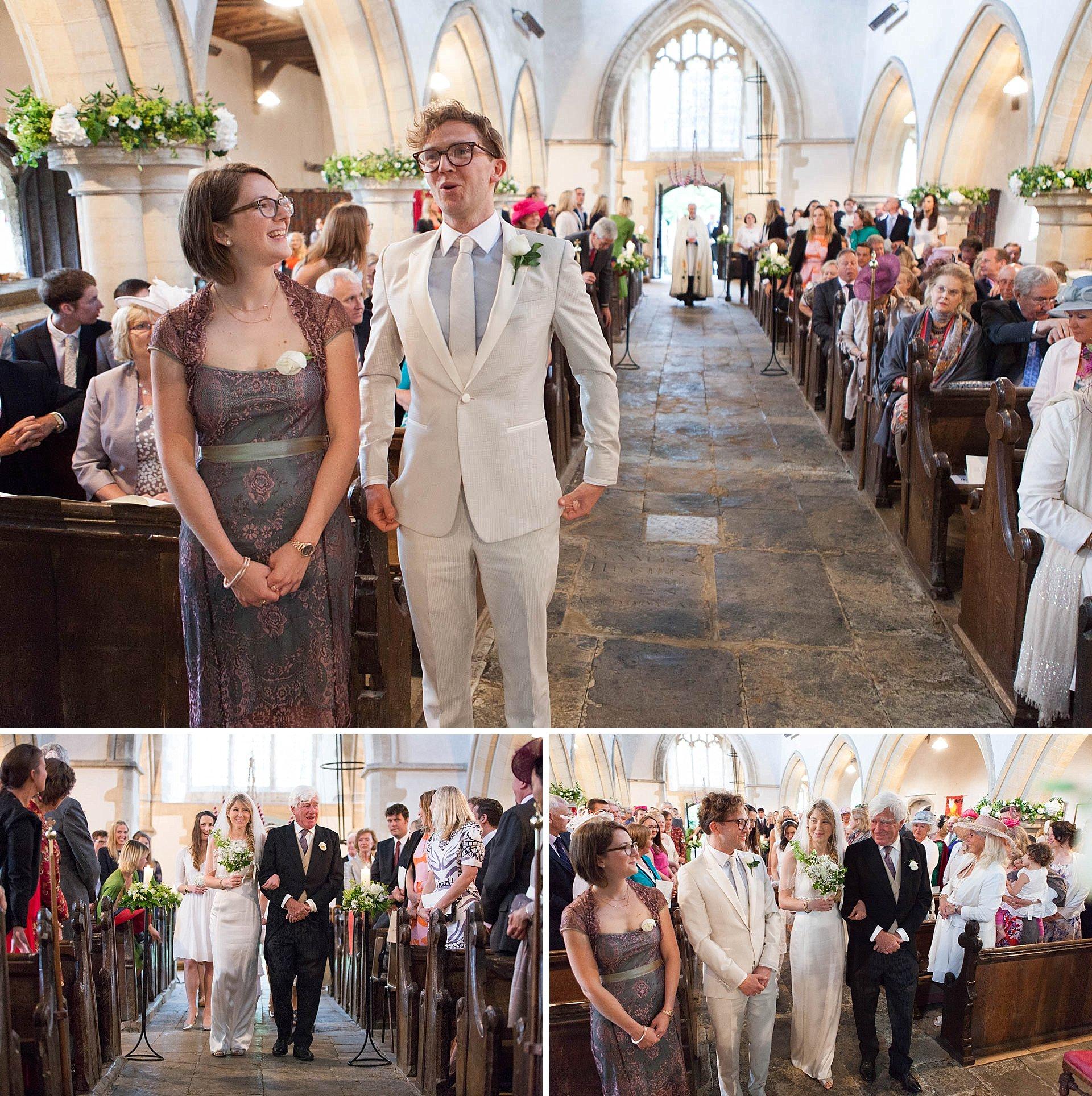 Poundon Wedding - arrival of the bride