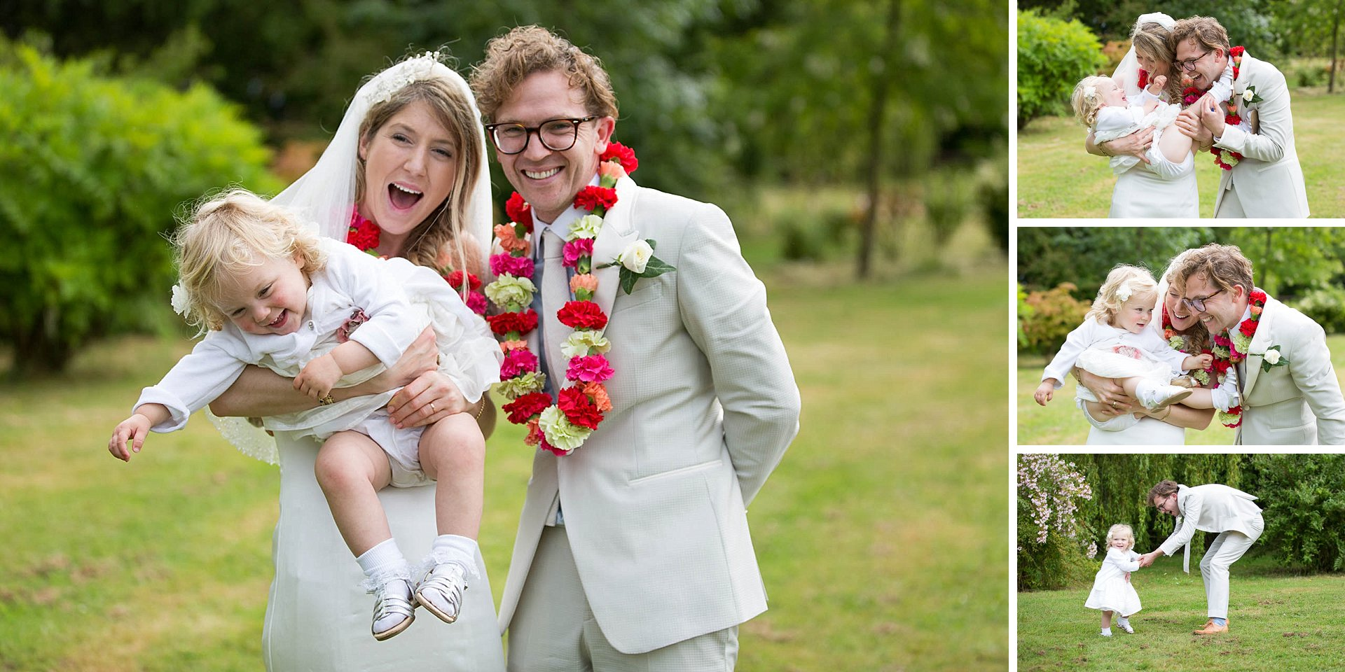 Family fun at wedding