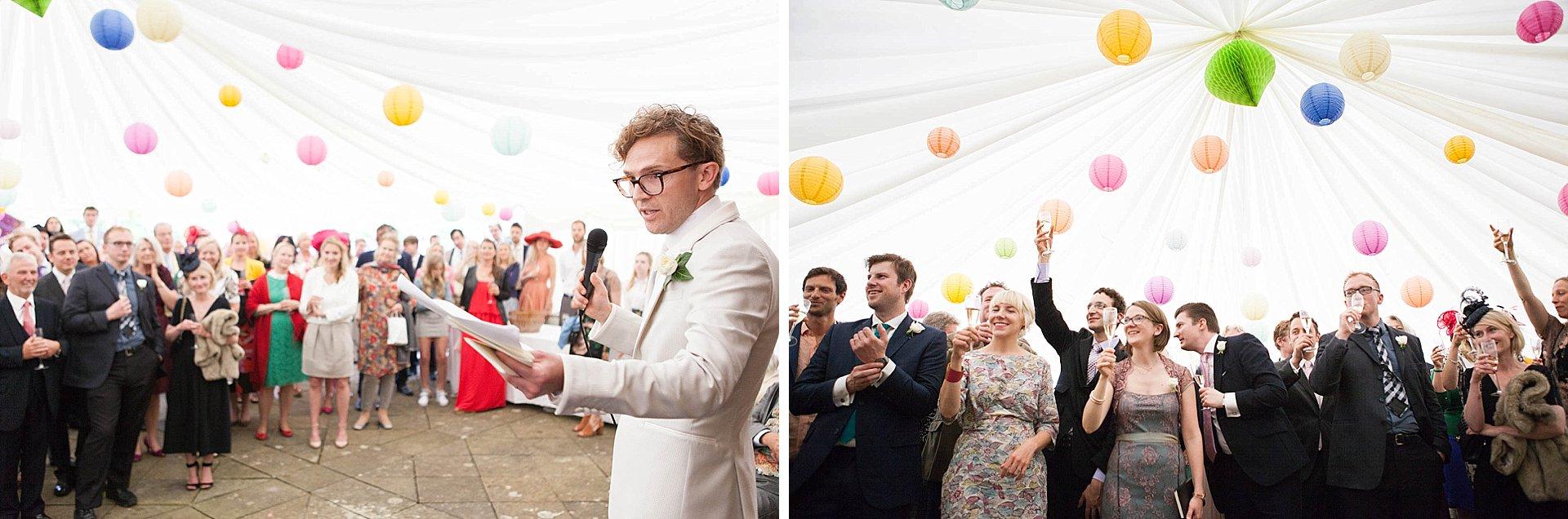 The speeches at Poundon Wedding