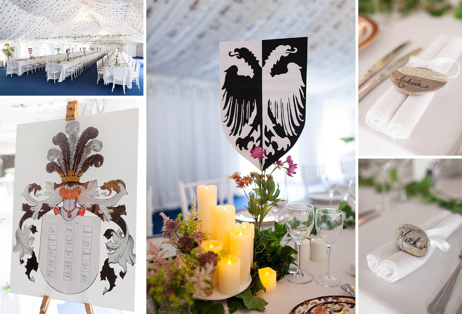 Poundon House medieval themed wedding