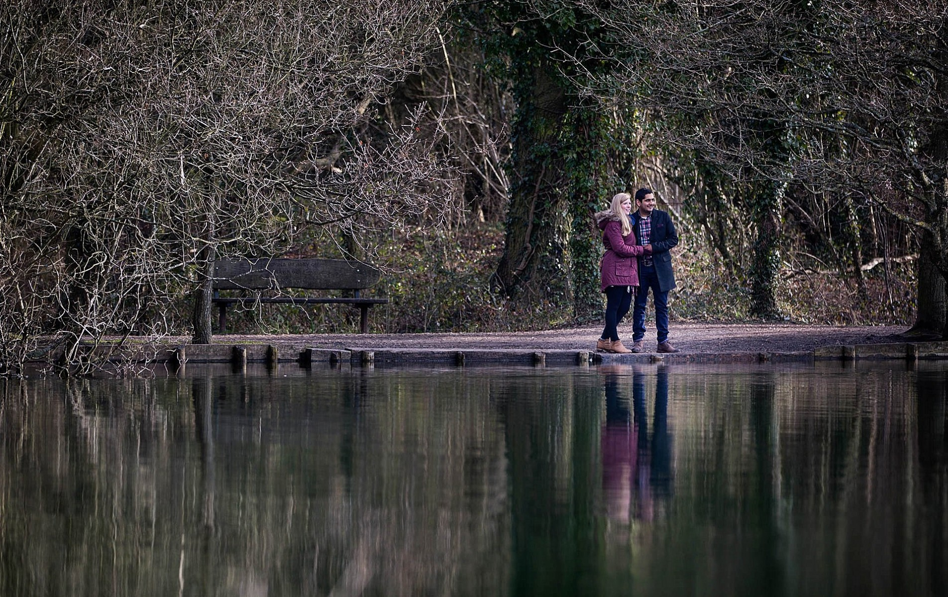 Katharine and Rohan's Dinton Pastures Engagement Shoot