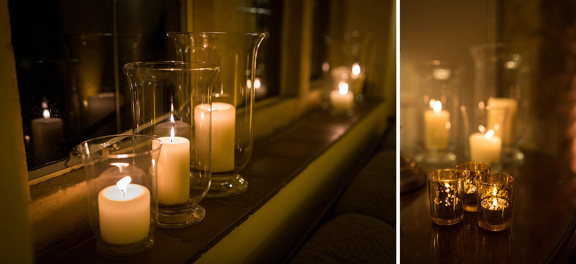 Cotswolds wedding - candles