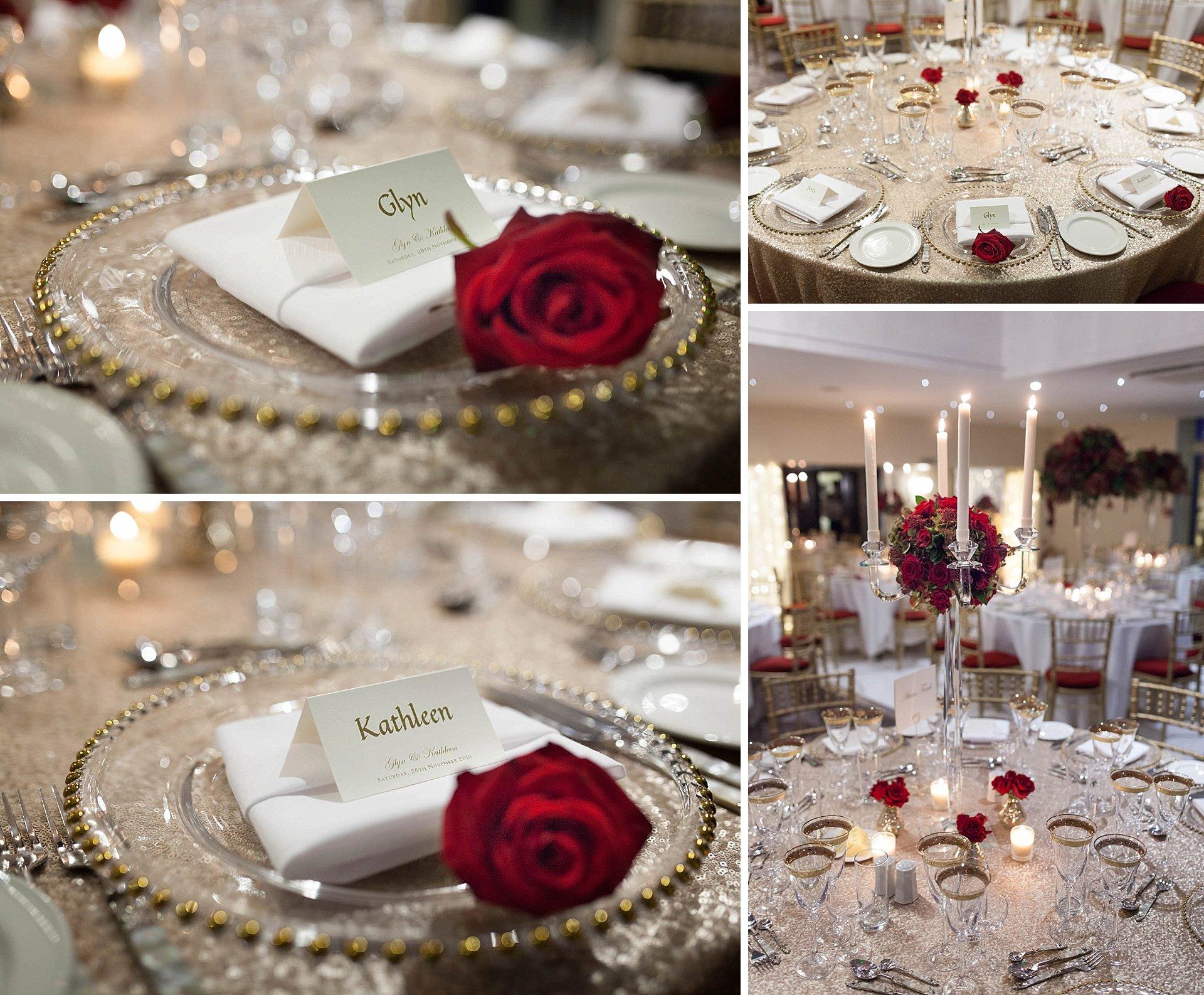 Cotswolds - wedding breakfast place settings