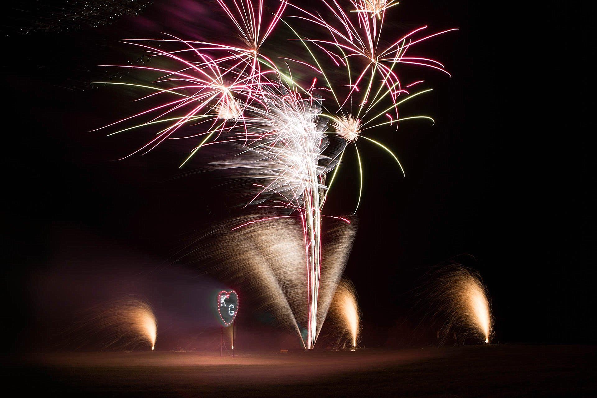 Chipping Campden - wedding fireworks