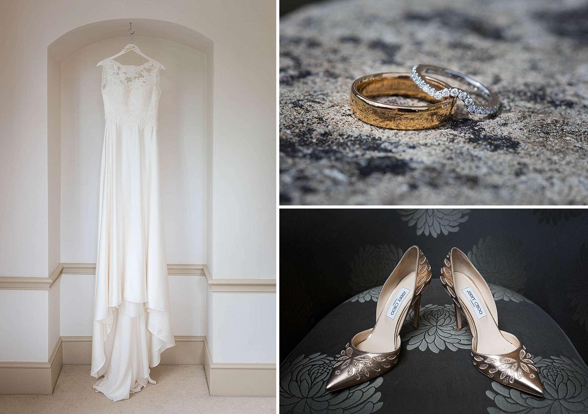 Pronovias wedding dress and Jimmy Choo wedding shoes