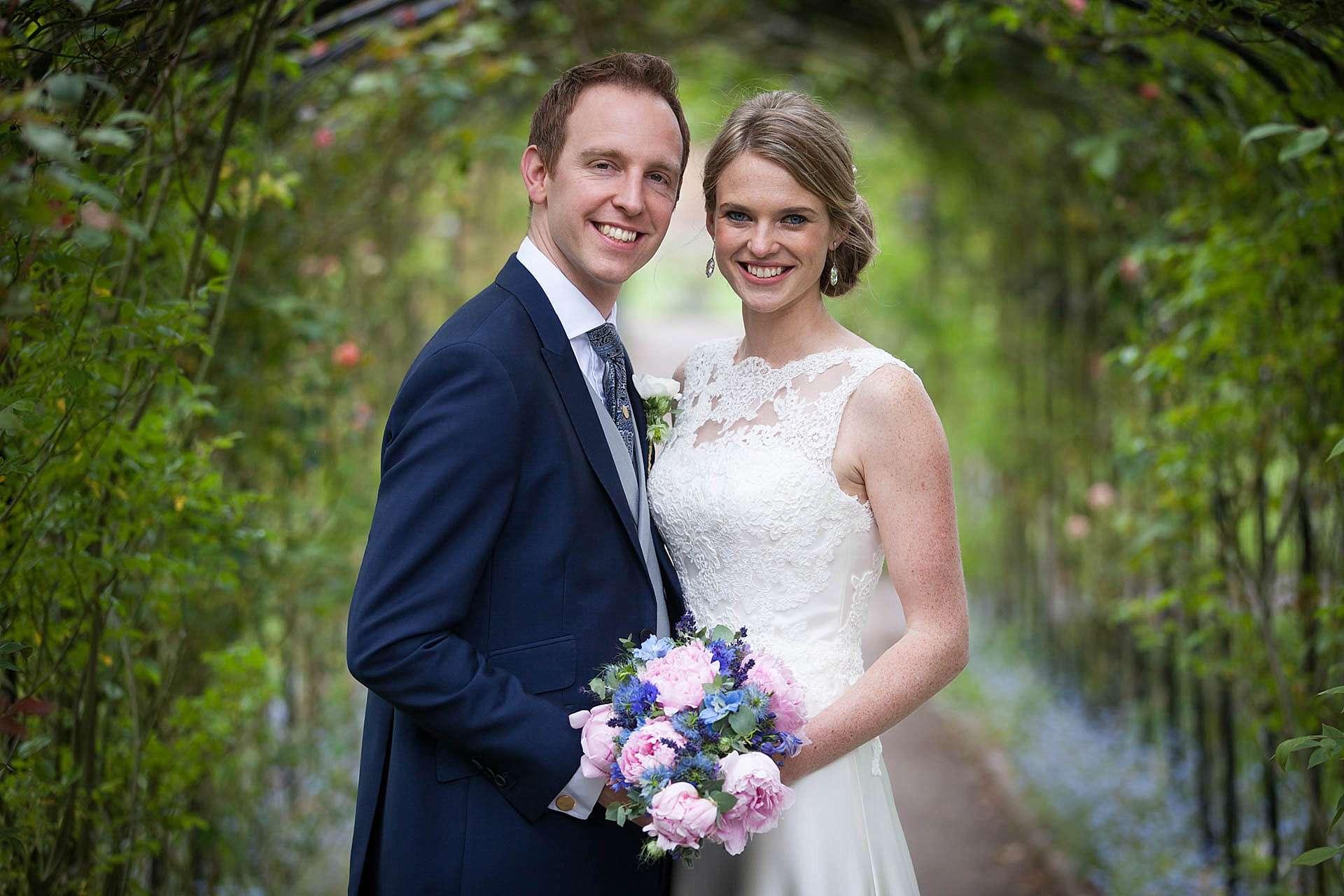 Caroline and Paul - wedding portrait