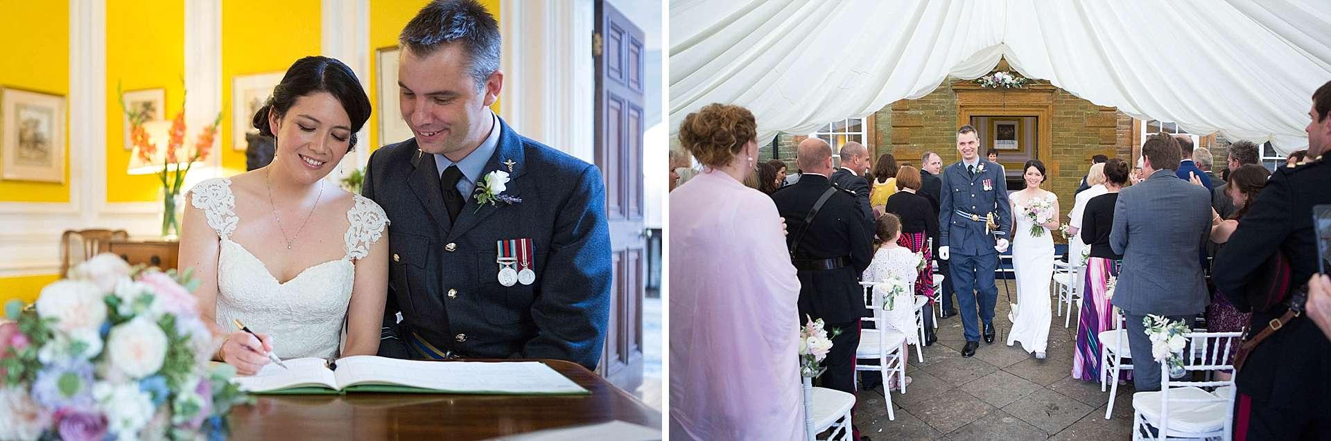 Poundon House military wedding