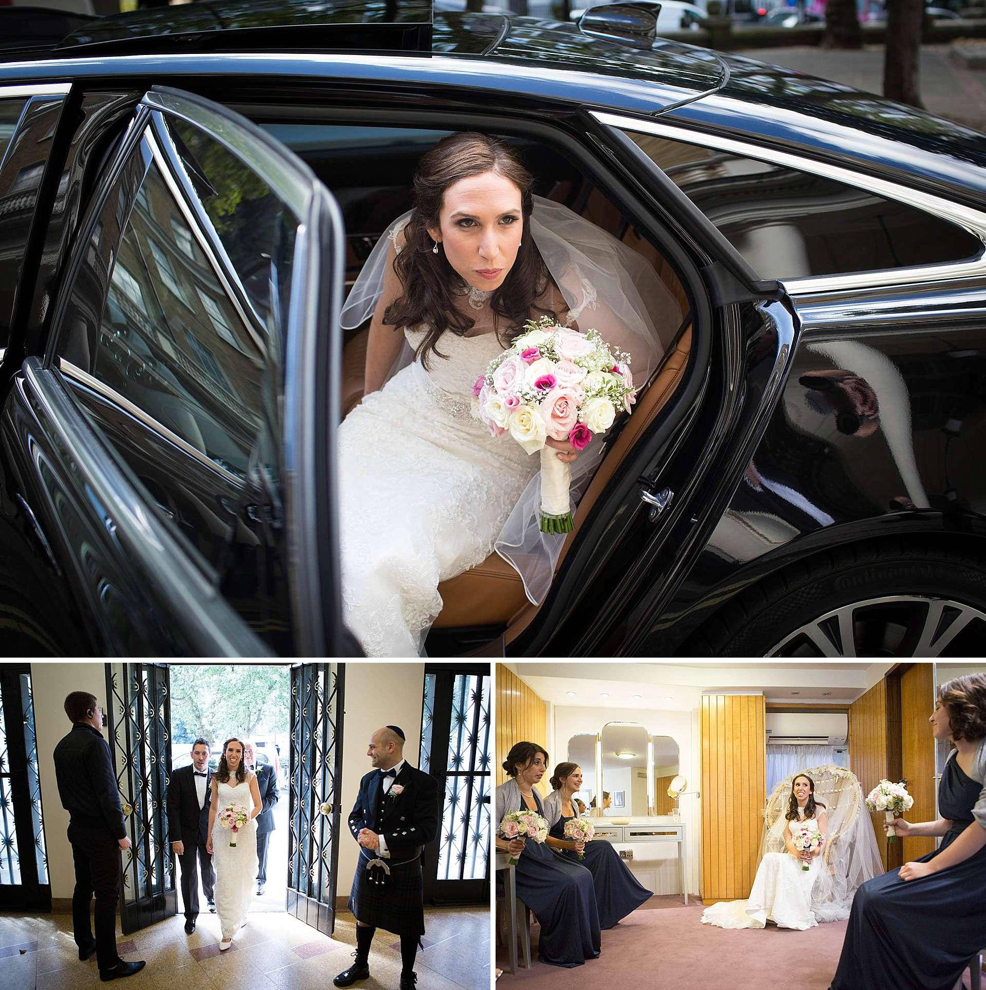 Hannah arrives at the Synagogue