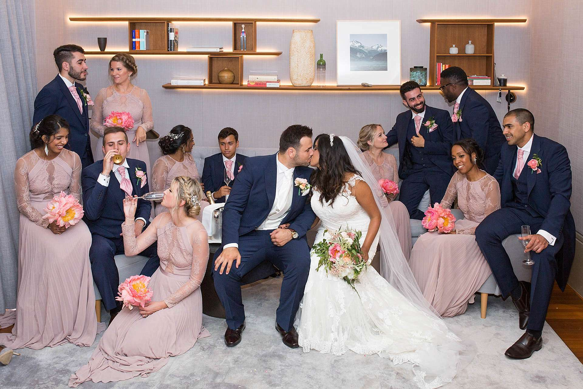 Bridal party at The Berkeley