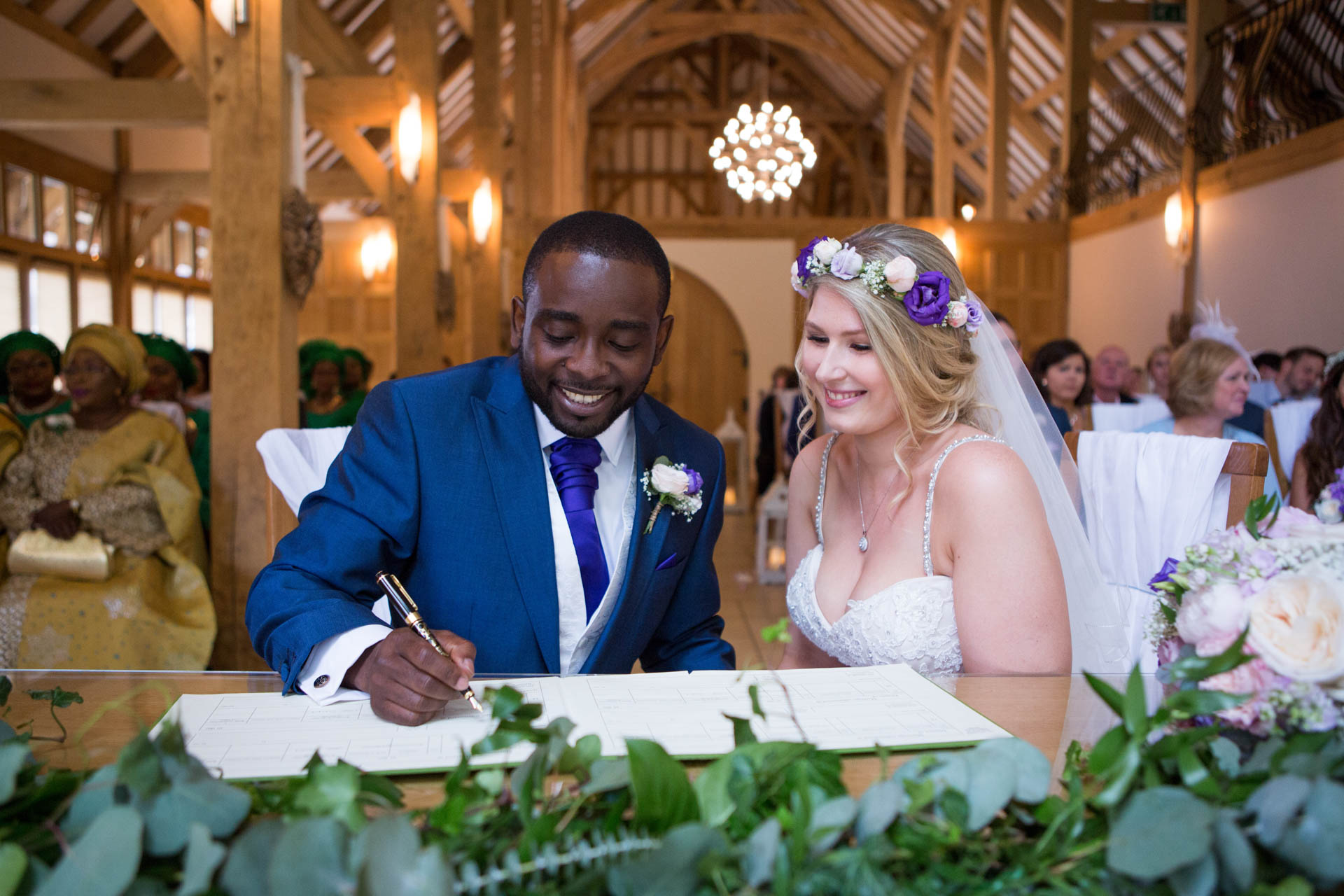 Rivervale Barn - just married