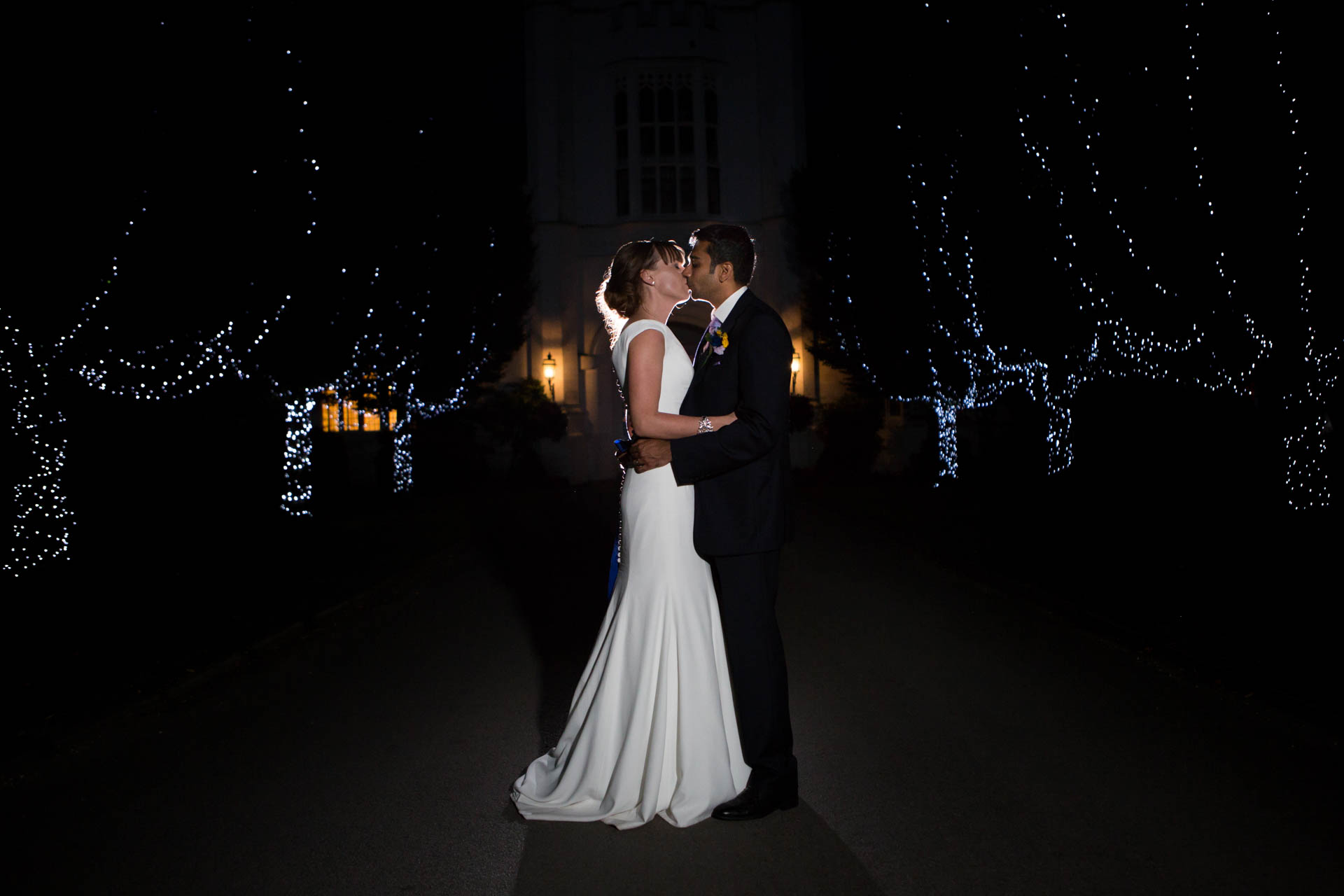 Bride and groom at Danesfield House