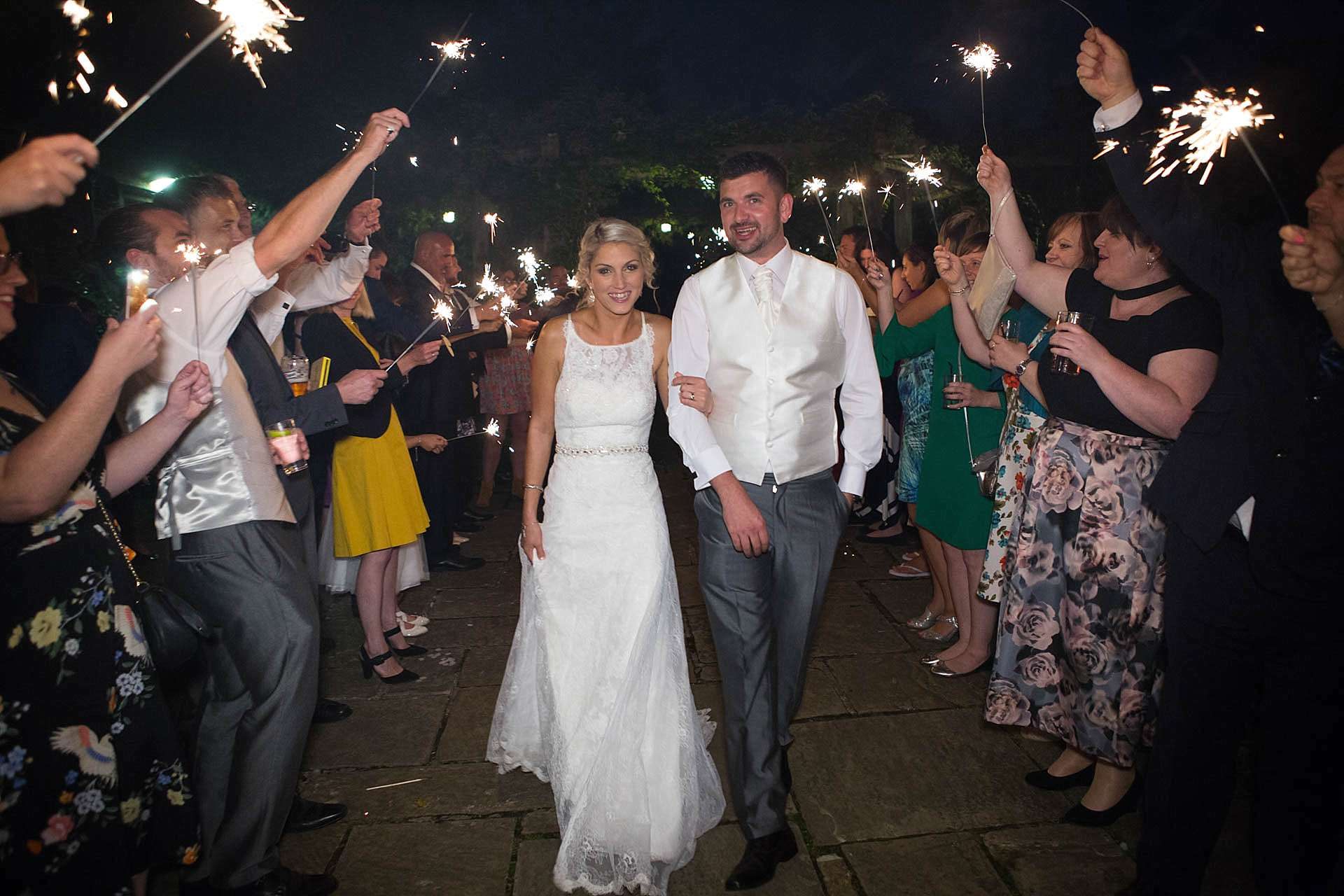 Bride, Groom and Sparklers
