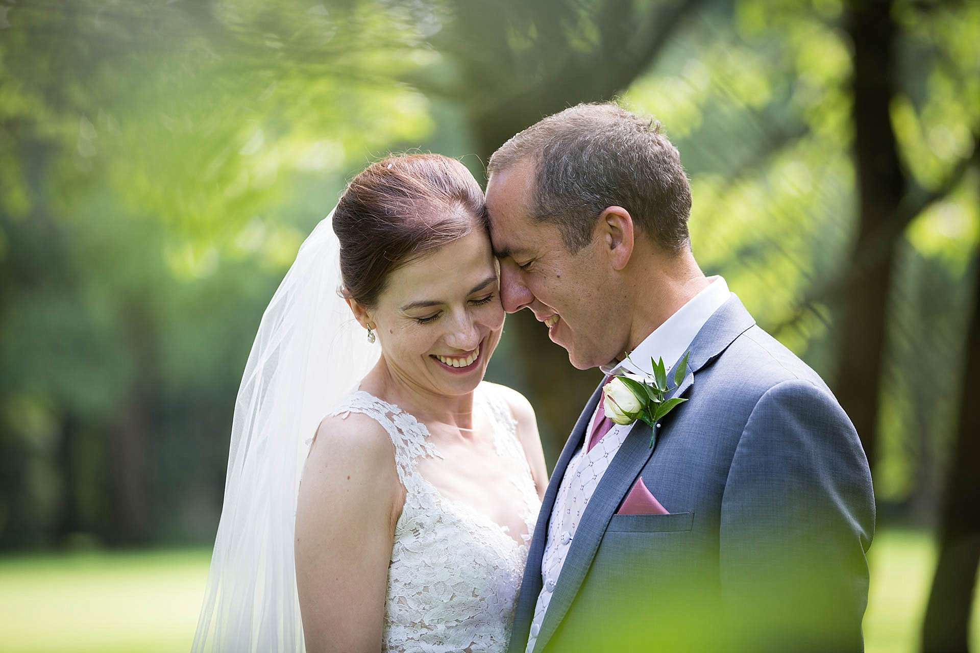 natural relaxed wedding portrait