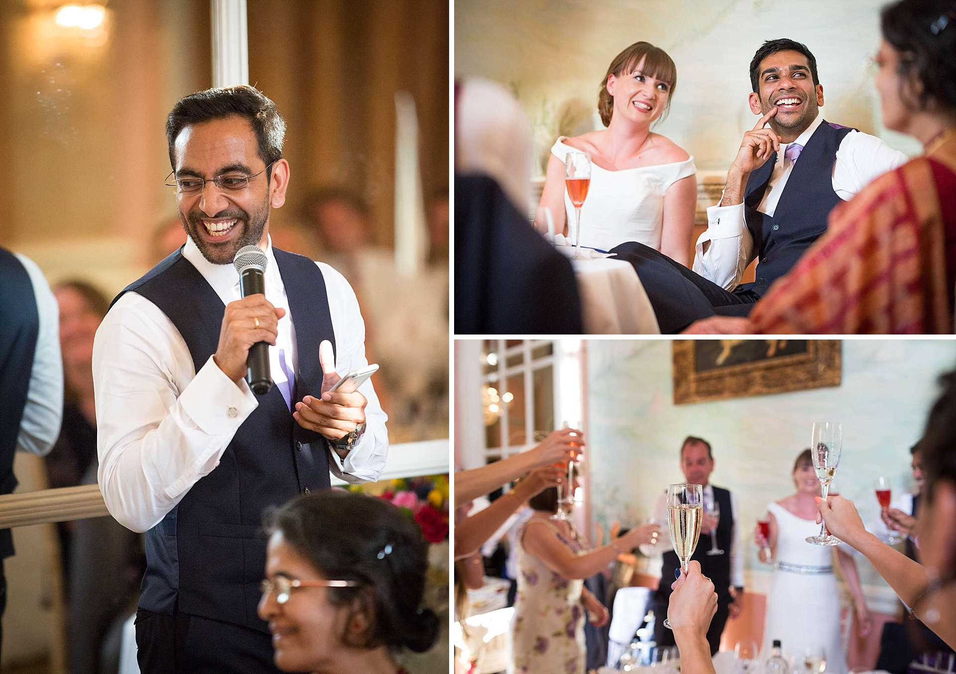 Wedding speeches at Danesfield House