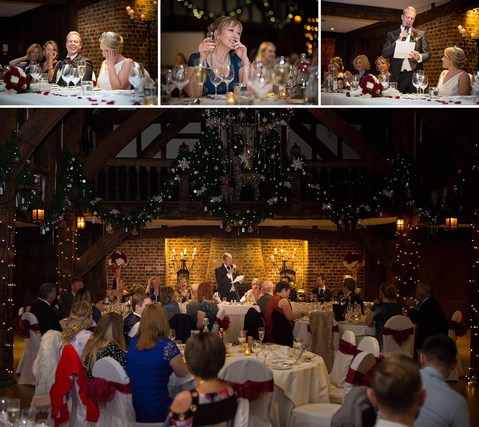 Wedding speeches at Great Fosters