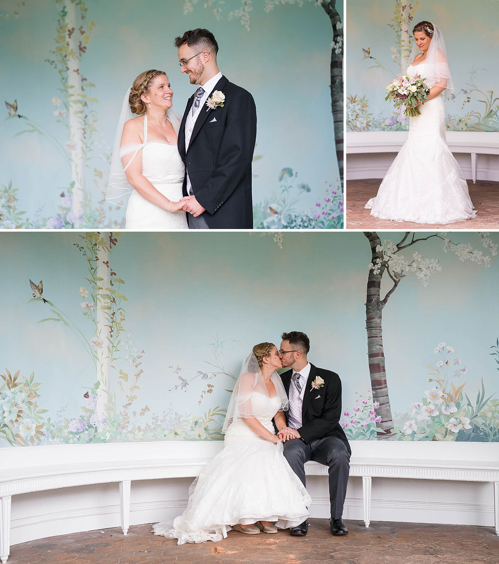 Natural and elegant wedding portriats