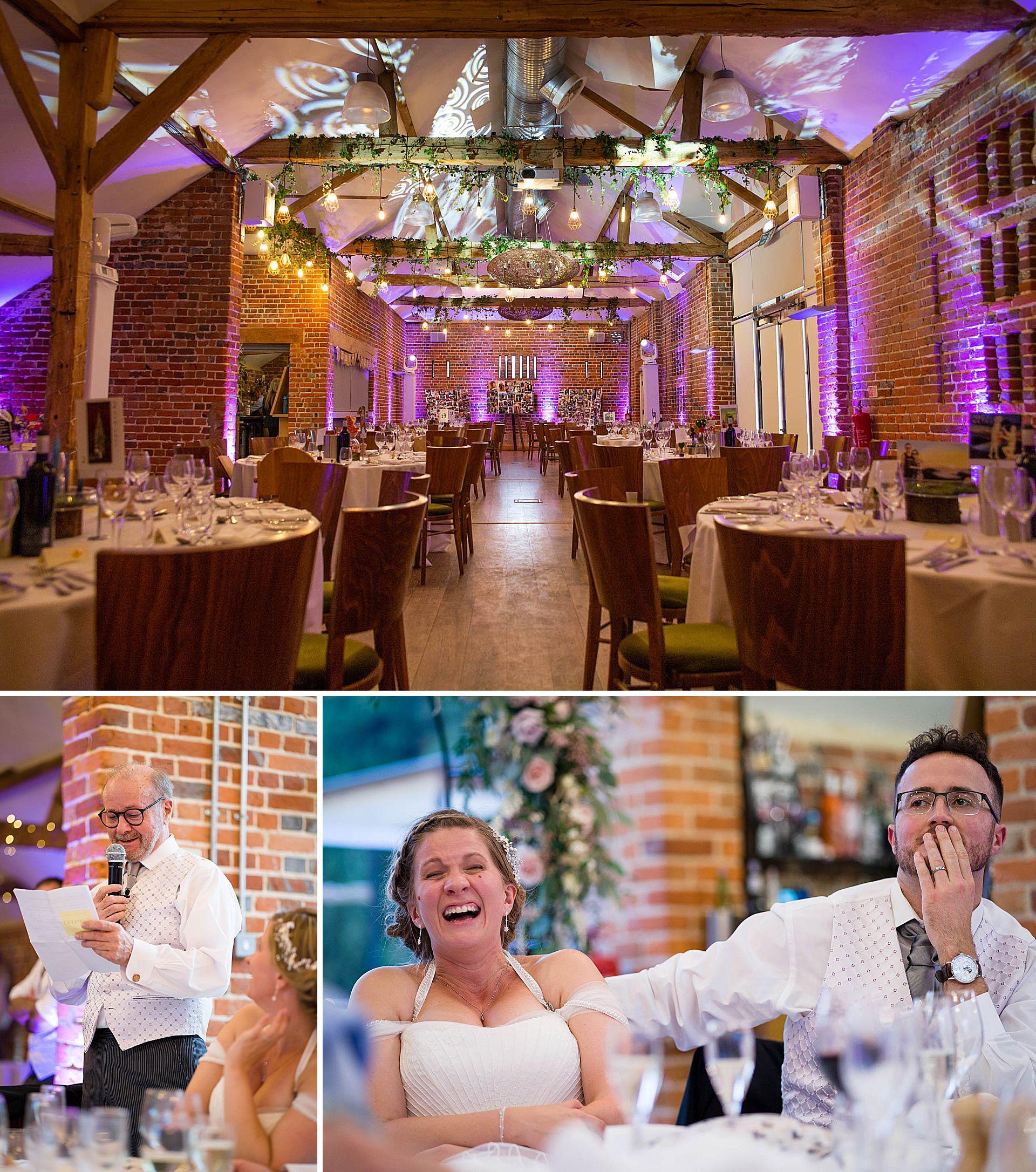 Wedding speeches at Wasing Park