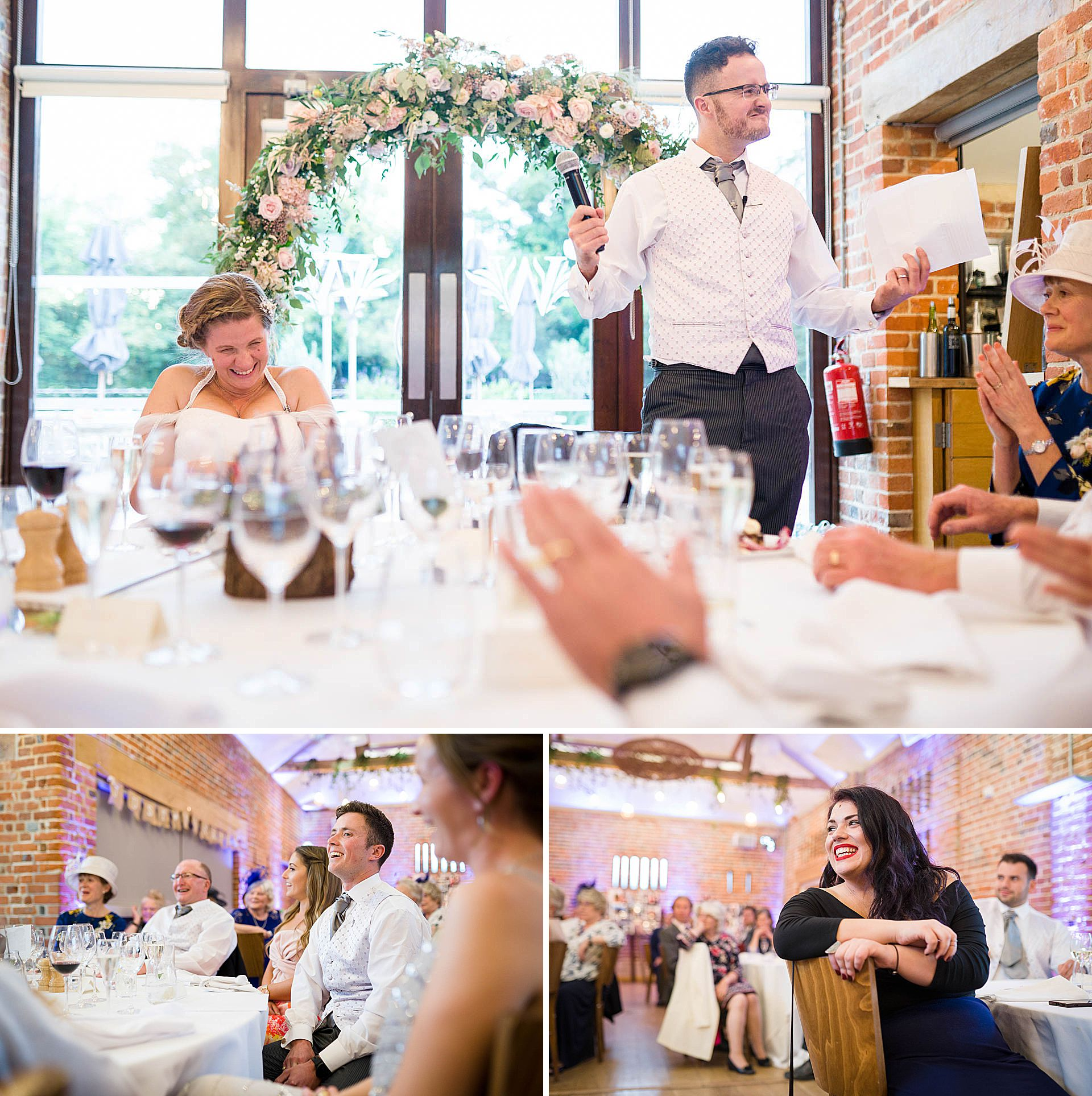 Wedding speeches at Wasing Park