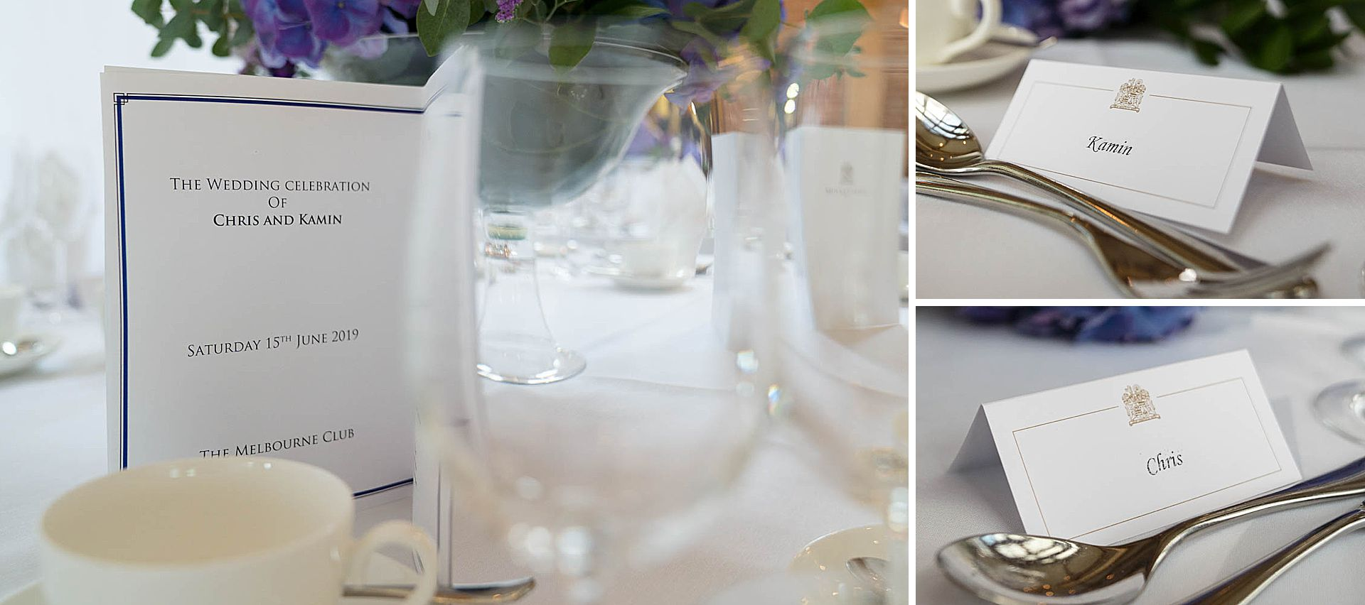 Wedding details at Brocket Hall