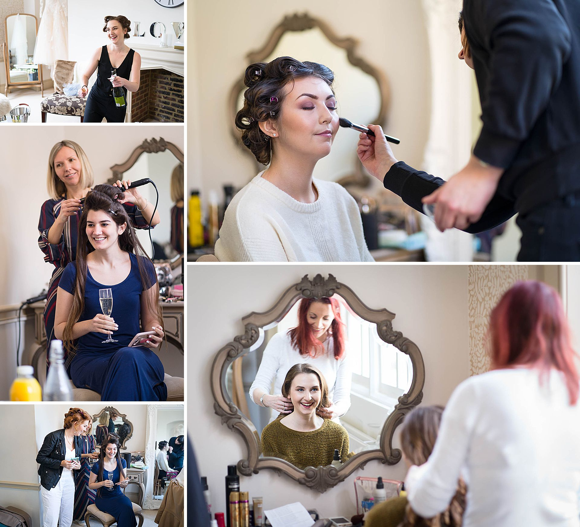 Bridal Prep at Nonsuch Mansion