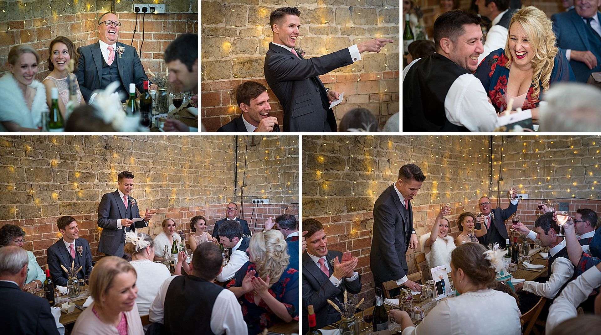 Wedding speeches at Epwell Grounds Barn